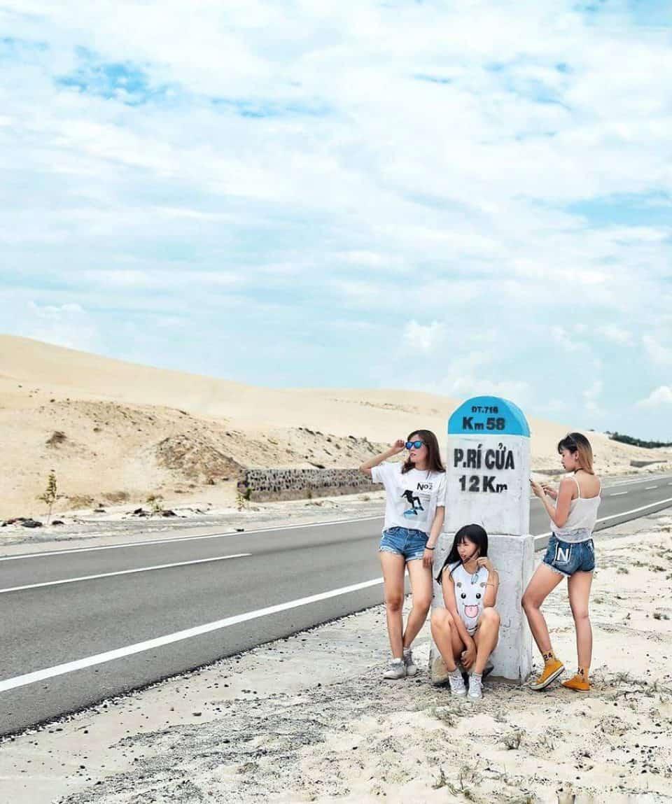 Cung đường cát trắng đi Phan Rí